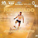 Juanmi Expósito renueva su compromiso con SIMA Peligros Fútbol Sala