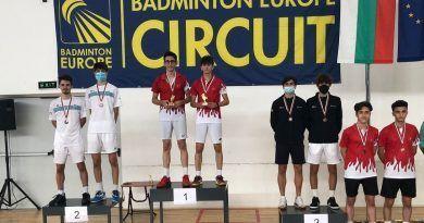 Grandes resultados del Club Bádminton Granada en los Internacionales de Bulgaria Sub 15 y Sub 17