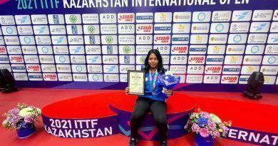 La jugadora del CTM Vegas Genil, Nath Kaushani, medalla de plata del ITTF Kazakhstan Open